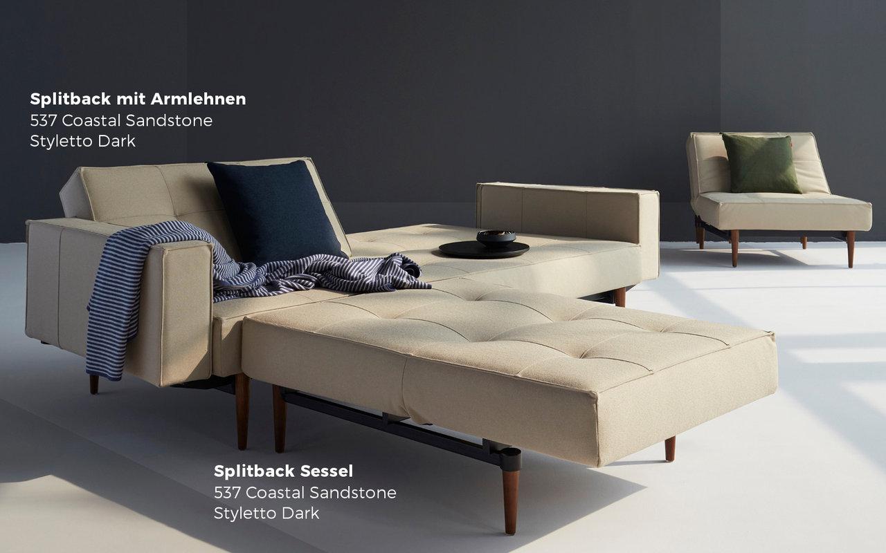 splitback sofa mit armlehnen von innovation sofawunder. Black Bedroom Furniture Sets. Home Design Ideas