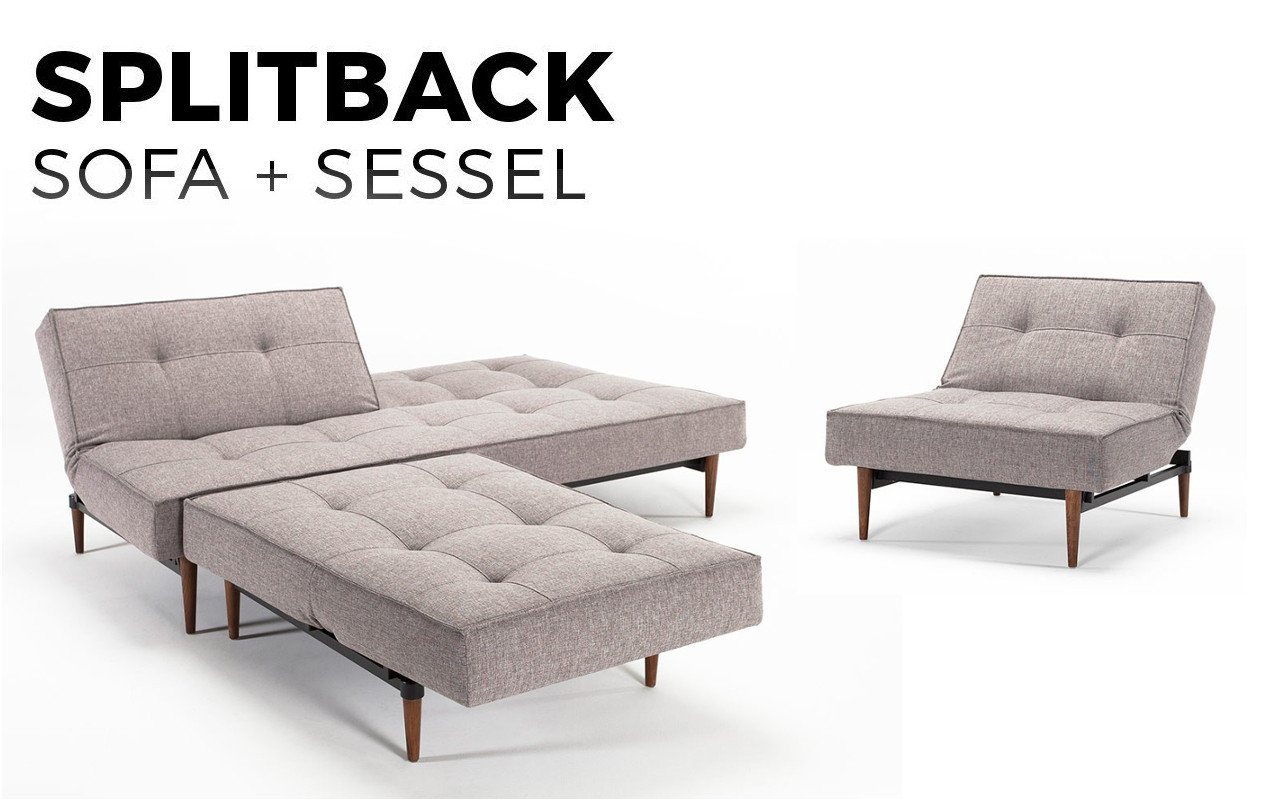 splitback schlafsofa mit sessel im set kaufen sofawunder. Black Bedroom Furniture Sets. Home Design Ideas