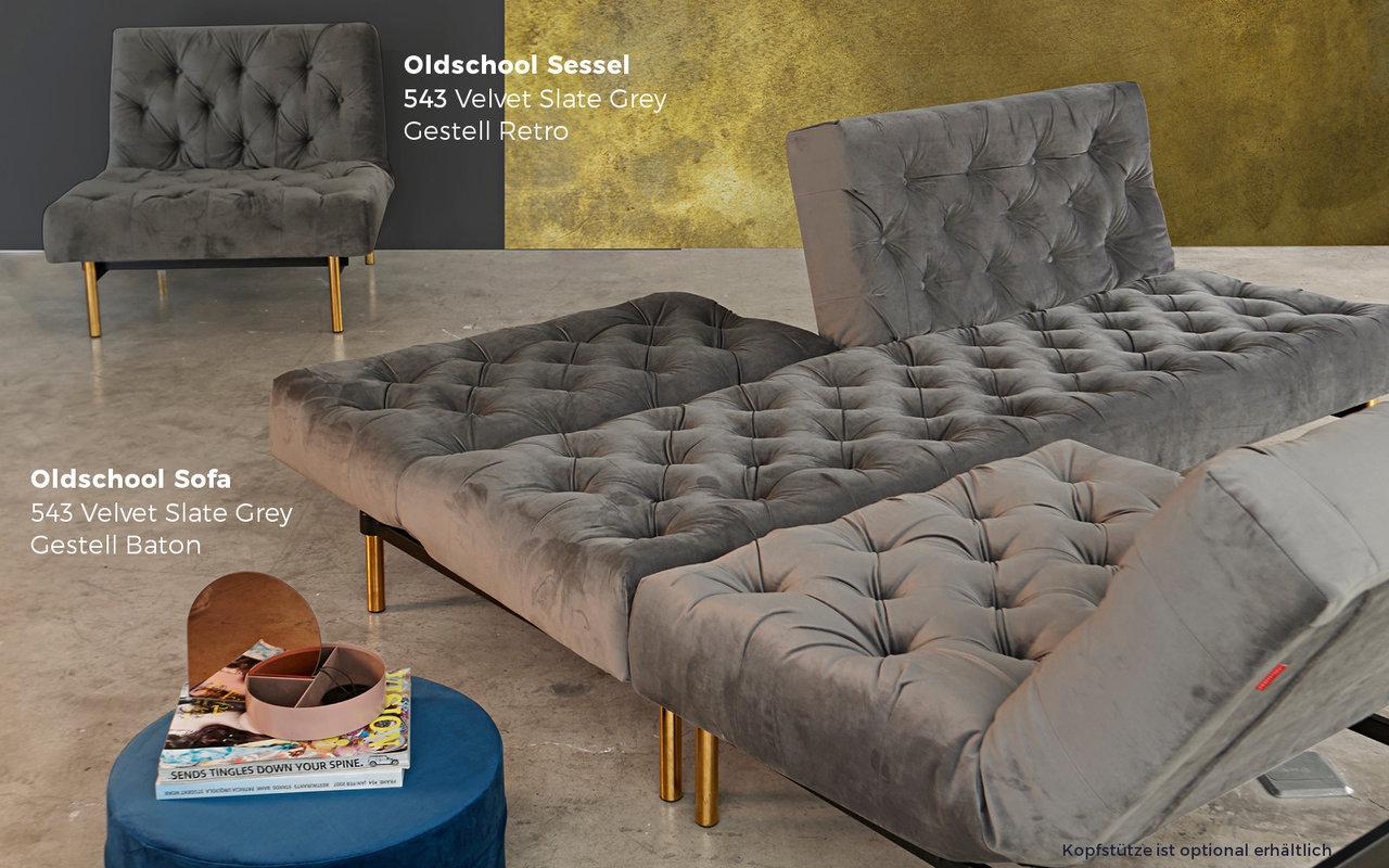 Sofa sessel set oldschool von innovation kaufen sofawunder for Schlafsofa samt