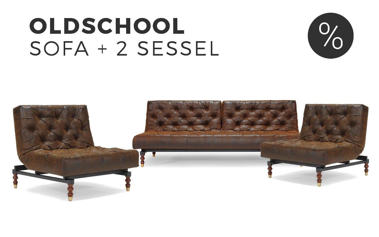 Und Sessel sofa sessel set oldschool innovation kaufen sofawunder