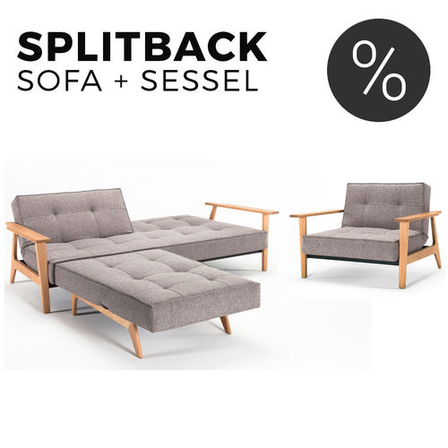 Splitback Frej Sofa und Sessel Set von Innovation