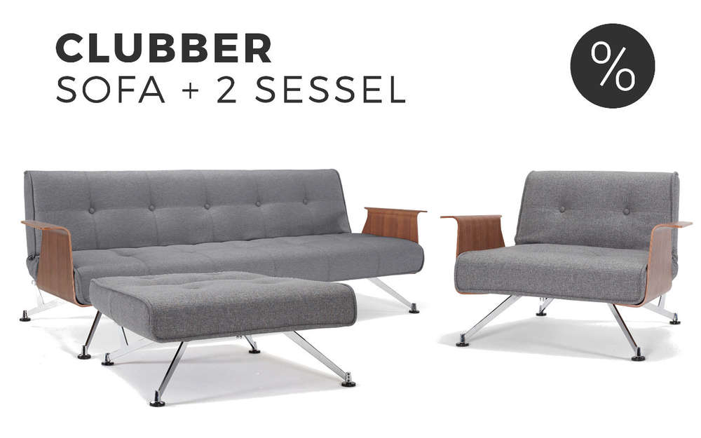 INNOVATION CLUBBER Schlafsofa mit Sessel im Set | Sofawunder