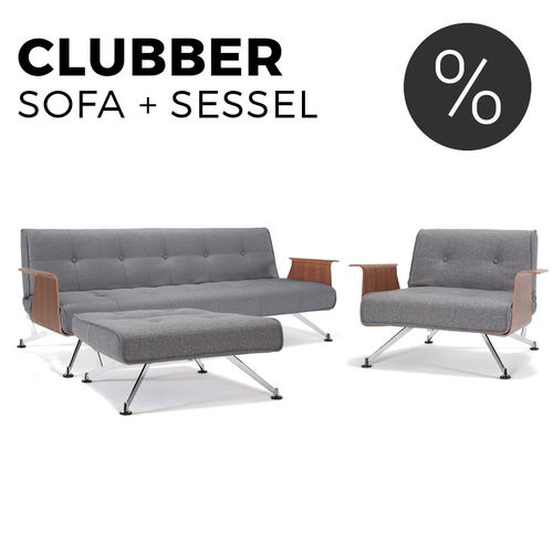 SET: Clubber Schlafsofa + Sessel von Innovation