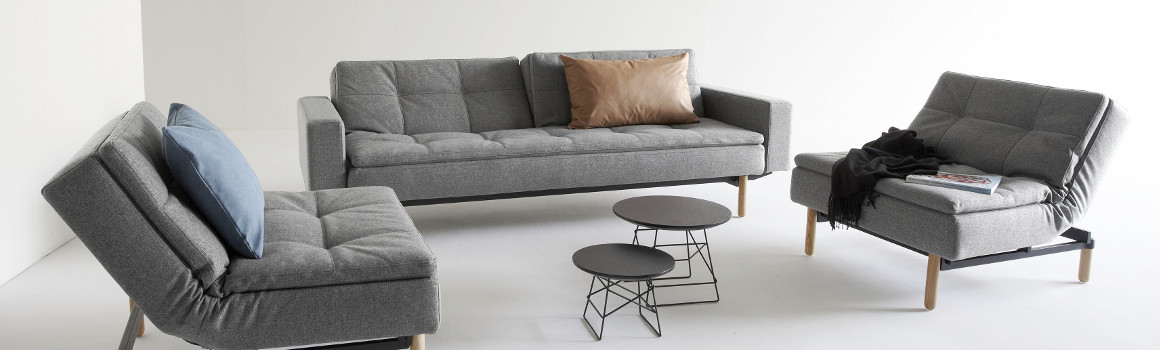 Innovation Dublexo Schlafsofa mit Sessel in Grau