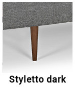 Styletto Dark Gestell für Zeal Sofa von Innovation