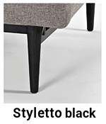 Styletto Black für Innovation Splitback Sofa