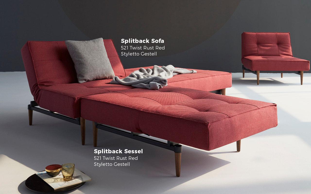 Splitback Schlafsofa Von Innovation Günstig Kaufen Sofawunder