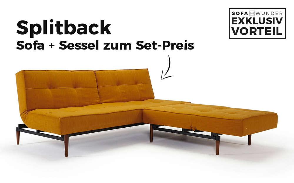 Splitback Schlafsofa Von Innovation Gunstig Kaufen Sofawunder